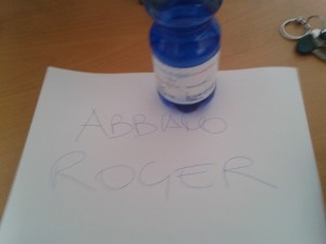 ABBIAMO ROGER - messaggio dei rapitori