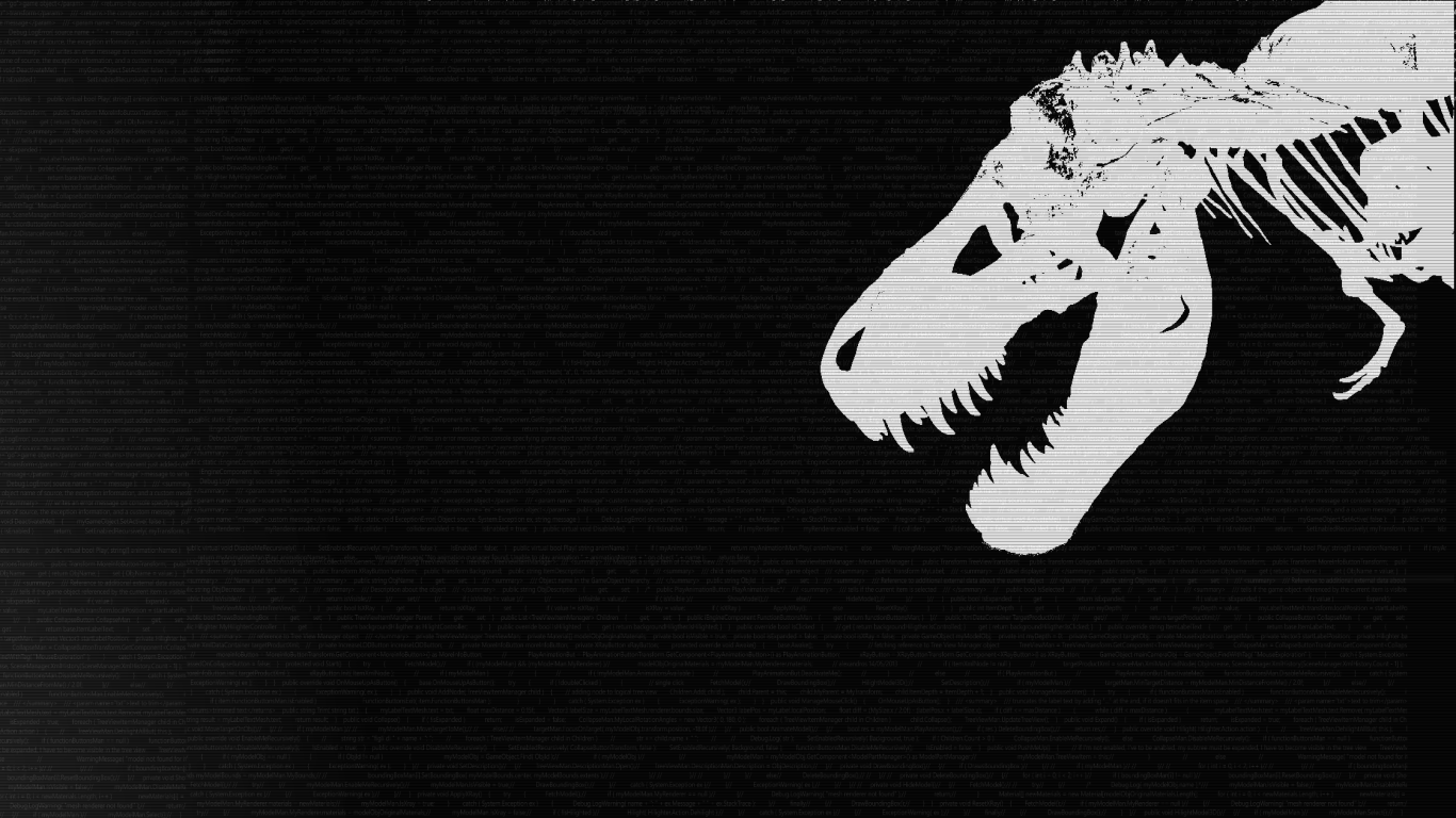 A wallpaper with my t-rex friend: Roger