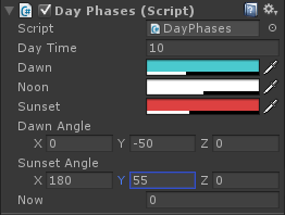 Day light script for Unity 3D