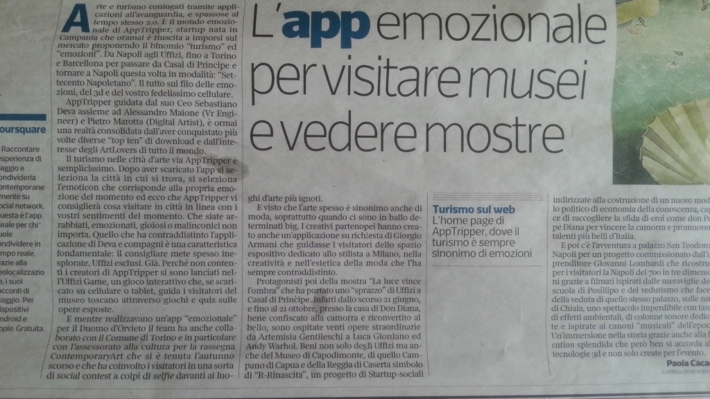 Articolo sul Corriere della Sera
