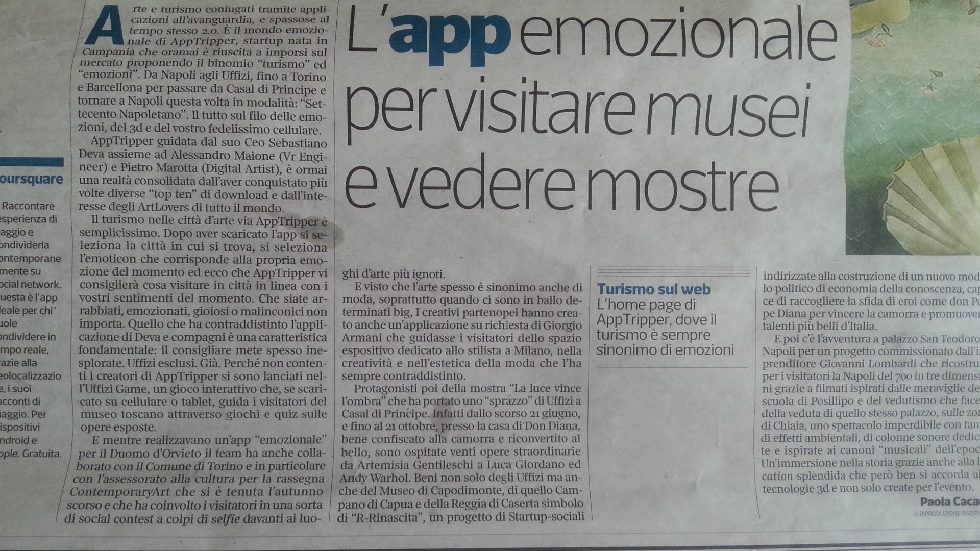 Il Corriere della Sera parla di noi! :-)